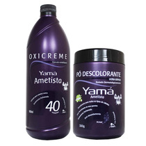 Kit Yama Ametista Pó Descolorante + Ox 40 Vol 900ml