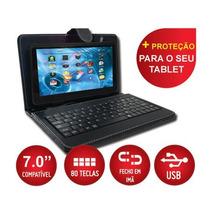Tablet Celular 2 Chip 3g Tv Gps Teclado Whatsapp + Teclado