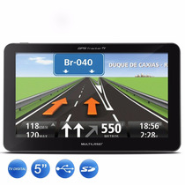 Gps 5 Touchscreen Radio Fm Mp3 Tv Digital Multilaser Gp036