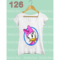 Blusa Tshirt Feminina Margarida Donald Disney Desenho