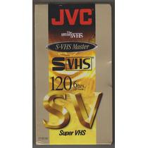 Fita De Video Cassette Svhs T-120 Jvc Nova Lacrada R$ 14,90