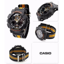 Casio G-shock Ga100 Ga-100mc Serie Militar H. Mundial Alarme