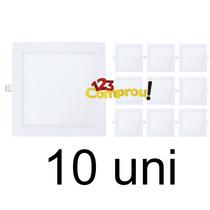 10 Painel Plafon Led Embutir Quadrado Slim 18w Frete Grátis
