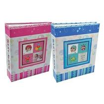 Álbum De Fotos Bebê - 200 Fotos 10x15 - Azul E Rosa - 02