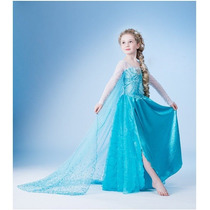 Vestido Fantasia Elsa Frozen Tamanho 12 Pronta Entrega