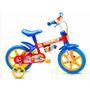 Bicicleta Aro 12 Masculina Infantil Fireman Vermelha Nathor
