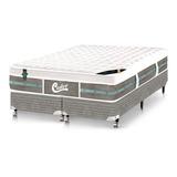 Cama Box+colchão Castor Queen Size Molas Green 158x198x72