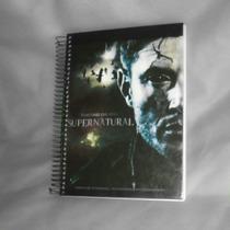Caderno Supernatural - 20 Matérias - Com Adesivos