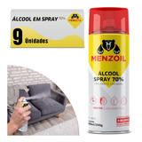 Álcool Em Spray 70% Aerossol 300ml 9 Unidades