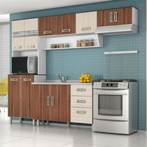 Cozinha Com Balcão Para Pia 4 Peças - Poliman