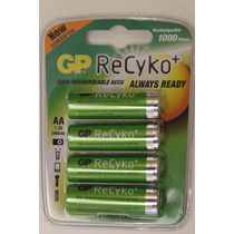4 Pilhas Aa Recarregável Gp Recyko 2000m Original Pronta Uso