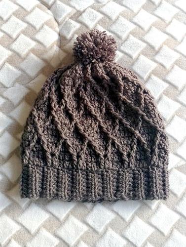 Gorro Touca Crochê Pompom Lã Moda Inverno Cinza - R  59 en Melinterest f71de0896d8