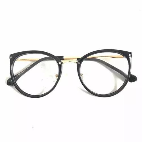 fdf7ffd24 Óculos Feminino Armação Grau Geeek Redonda Vintage. R$ 38