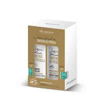 Kit Semi Di Lino Cristais De Pérola Shampoo E Condicionador