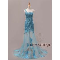 Saldão *vestido Festa Madrinha Azul Tiffany Gripir Sereia