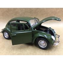 Miniatura Fusca 1967 Cor Verde Rodas Originais