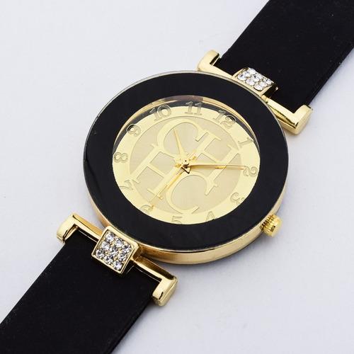 d605ea6adab Relógio Carolina Herrera Preto Pulseira Silicone Promoção