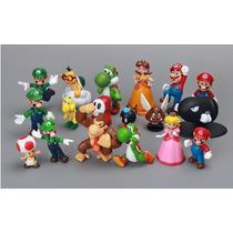 Coleção Kit 18 Miniaturas Super Mário - Pronta Entrega