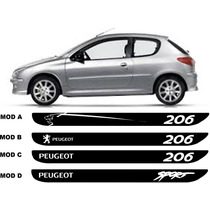 Kit Adesivo Faixa Lateral Peugeot 206 E Sw Frete Gratis