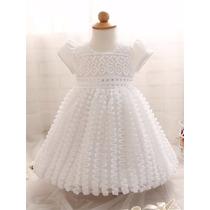 Vestido Batizado Festa Bebè Baby Menina Infantil