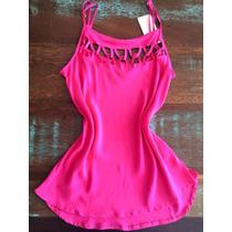 Blusinha Regata Feminina Verão Pink Alça Com Ajuste