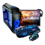 Pc Completo Gamer Monitor 19 Led Hdmi Wifi 8gb   30 Jogos!