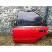 Porta Traseira Esquerda Sem Acessórios Honda Civic 1993