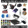 Kit Tatuagem Master Tattoo Double 2 Maquinas + 80 Brindes