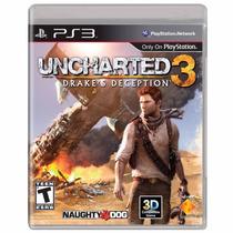 Jogo Ps3, Uncharted 3,drake´s Deception, Á Pronta Entrega