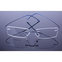 Armação Azul Feita De Titanium Óculos De Grau Sem Aro - A574