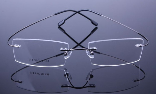 Armação Discreta Grafite Invisível Óculos Grau Titanium A575 - R  69 ... e3311488f7
