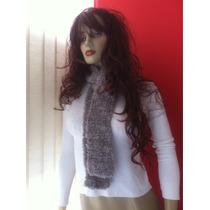 Cachecol Feminino Lã Linhas Acessórios Roupas Inverno Fofos