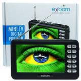 Mini Tv Digital Portatil 4.3 Com Radio Fm Usb Cartao Sd Fone