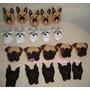 Lembrancinha Cães De Raça Poodle Osso Pet Kit C/10 Unidades