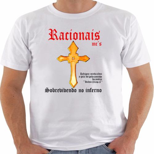 6f35a24b57 Camiseta Manga Curta Branca Racionais Mcs Ref 397 à venda em ...