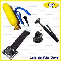 Kit Acessórios Para Gopro Suporte Pulso Bastão Flutuante