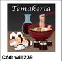 Adesivo Decorativo Temakeria Sushi Yakisoba Will239