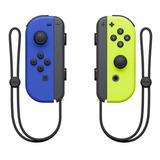 Controle Joystick Nintendo Joy-con Azul/amarelo-néon