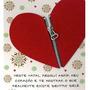 Cartão Fina Idéia Sazonal Natal - Coração Verm Natal Tam