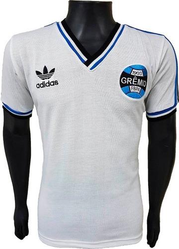 c54045a0ef Camisa Retrô Grêmio Mundial 1983 Branca Feminina Baby Look
