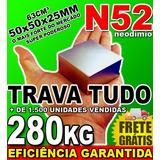Imã De Neodímio Bloco Super Forte Trava Tudo N52 Ima