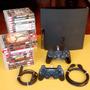 Ps3 Playstation 3 Completo: 2 Controles   Jogos Originais