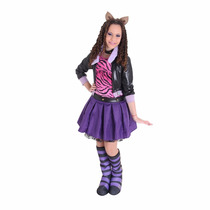 Fantasia Monster High Clawdeen Wolf Luxo M - Sulamericana