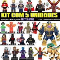 Boneco Super Herois Marvel Dc Star Wars Ninjago Compativel