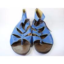Sandália Gladiadora Rasteira Território Do Sapato Tamanho 38