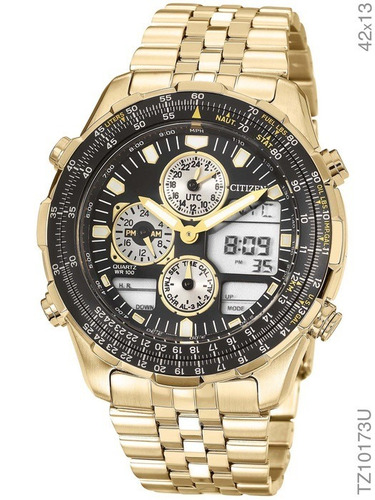 85fbe2396d0 Relógio Masculino Citizen Tz10173u Dourado + Nota Fiscal