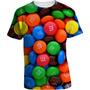 Camisa Doces M&m - Camiseta Comida Chocolate M&m