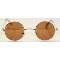 Oculos Lentes Redondas Jhon Lennon Armação Dourada Medio