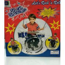 Bateria Musical Infantil  Tambor Baquetas Pedal E Banquinho