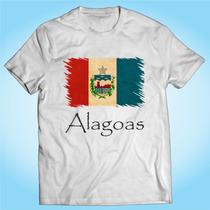 Camisa Alagoas - Bandeira - Brasil - Personalizada